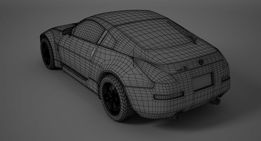 Nissan-350z royalty-free 3d model - Preview no. 12