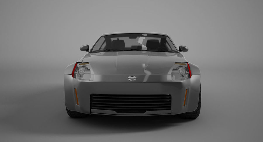 Nissan-350z royalty-free 3d model - Preview no. 5