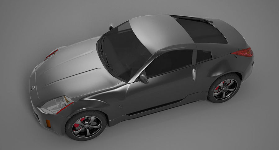 Nissan-350z royalty-free 3d model - Preview no. 4