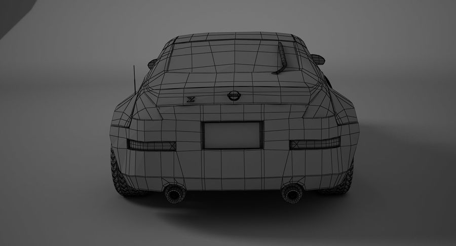 Nissan-350z royalty-free 3d model - Preview no. 9