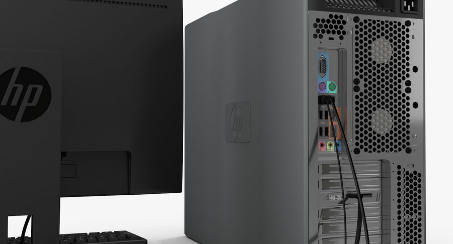 Workstation HP royalty-free 3d model - Preview no. 9