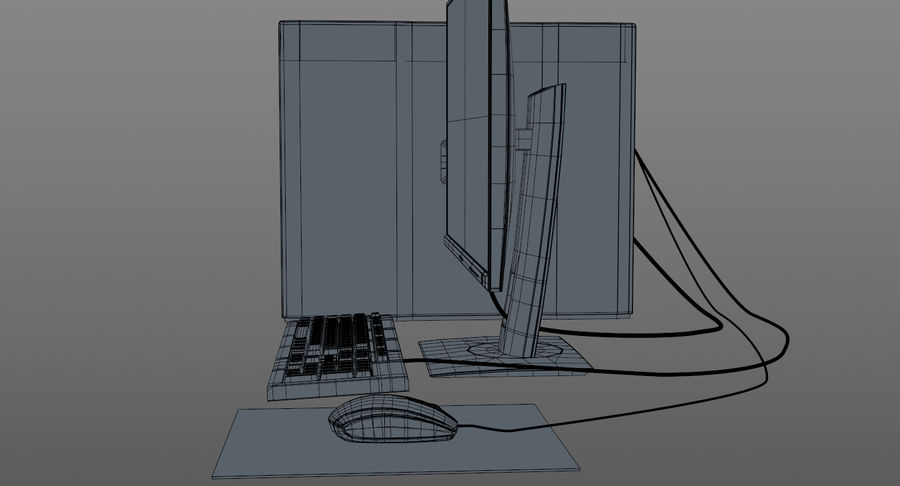 Workstation HP royalty-free 3d model - Preview no. 18