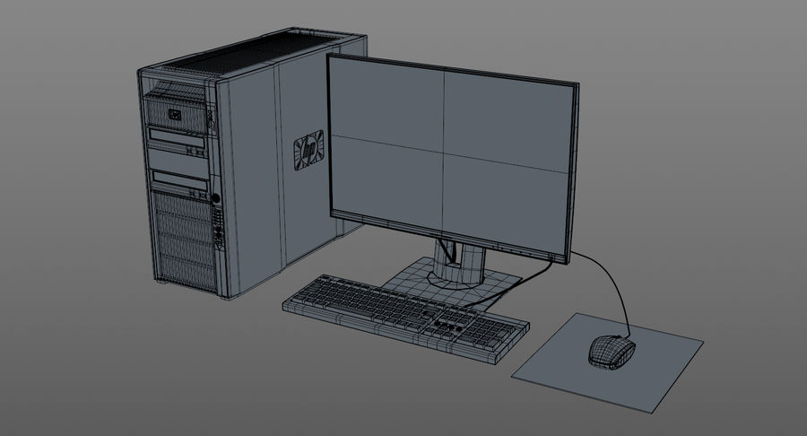 Workstation HP royalty-free 3d model - Preview no. 11