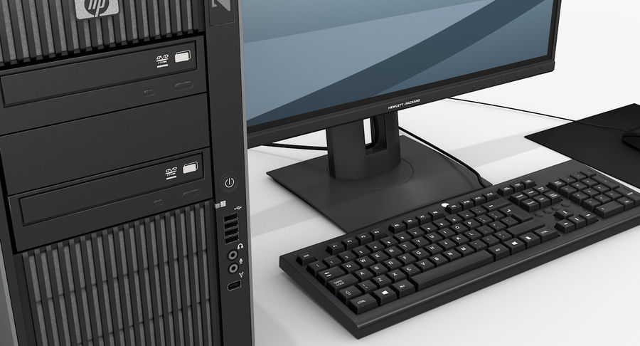 Workstation HP royalty-free 3d model - Preview no. 7
