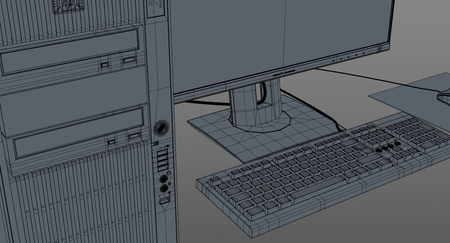 Workstation HP royalty-free 3d model - Preview no. 15