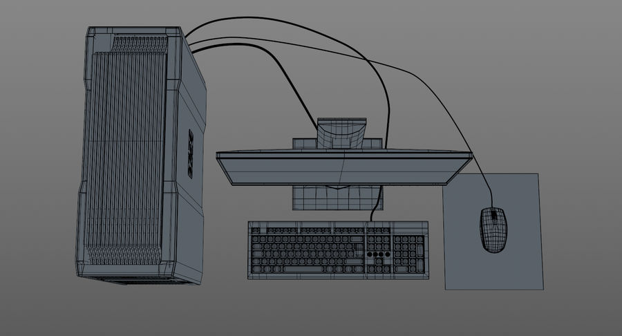 Workstation HP royalty-free 3d model - Preview no. 14