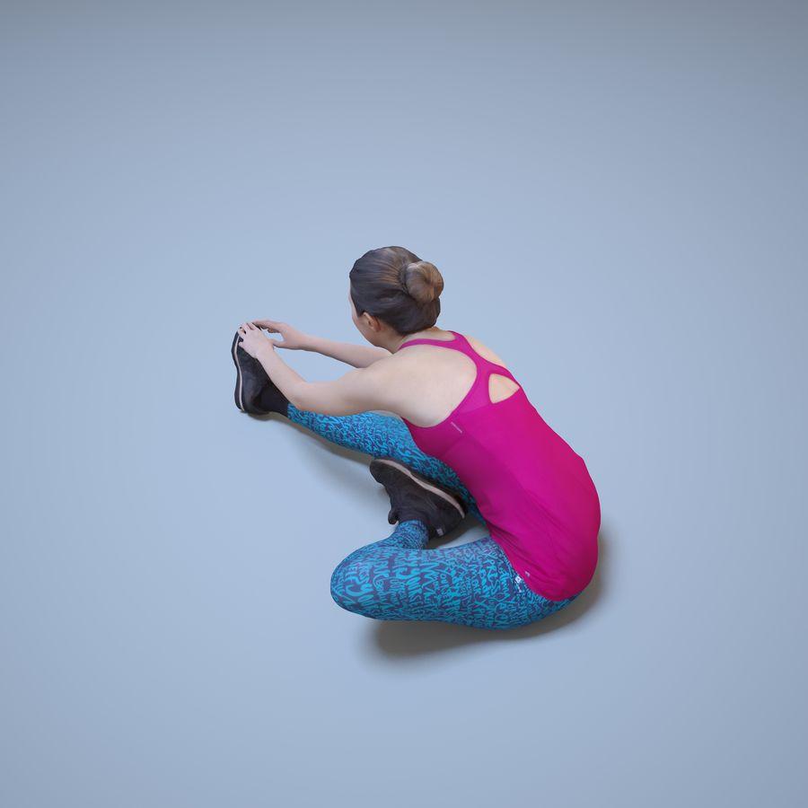 Kvinna för kondition 3d royalty-free 3d model - Preview no. 3