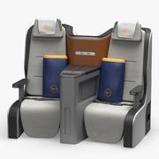 Sedile Business Class Lufthansa 3d model