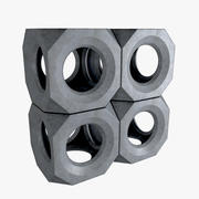 Rompeolas de cubo modelo 3d
