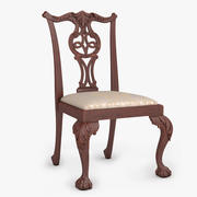 Chippendale Dining Chair 01 3d model