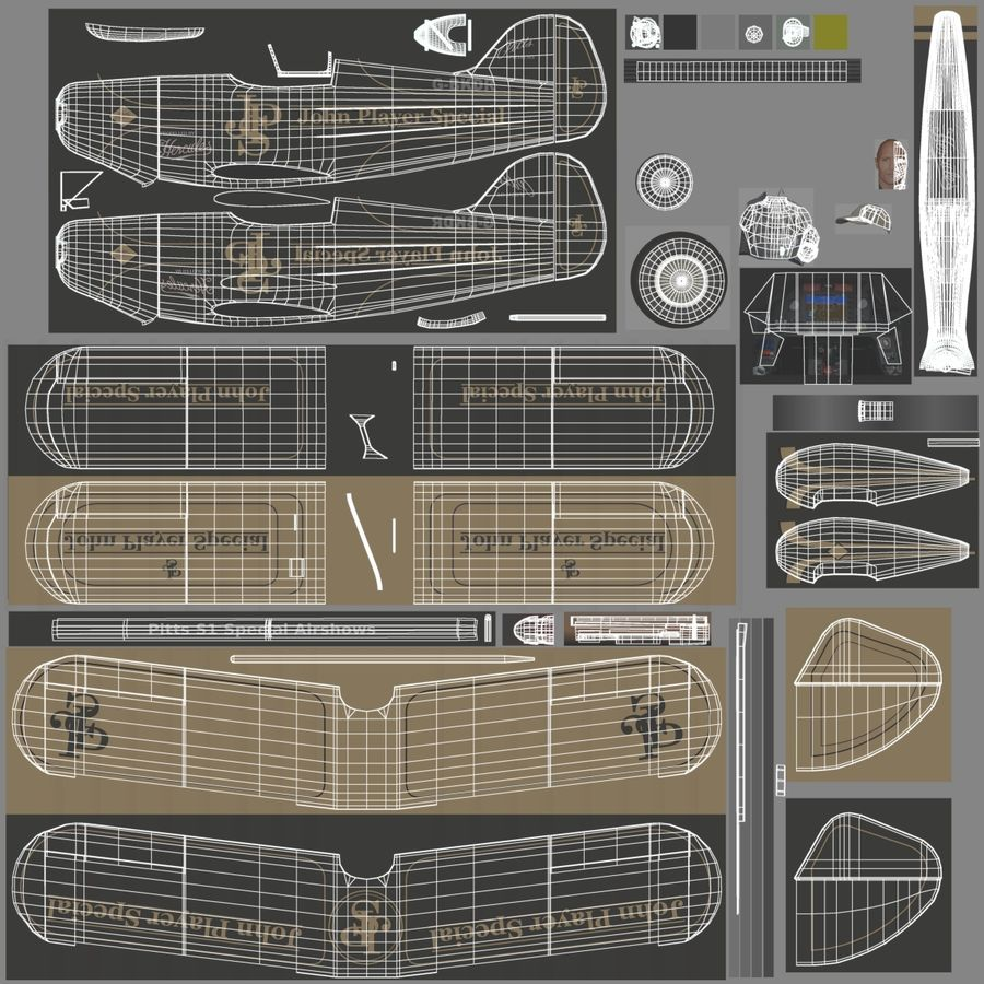 Pitts S1 JPS royalty-free 3d model - Preview no. 15