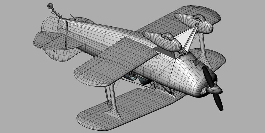 Pitts S1 JPS royalty-free 3d model - Preview no. 19