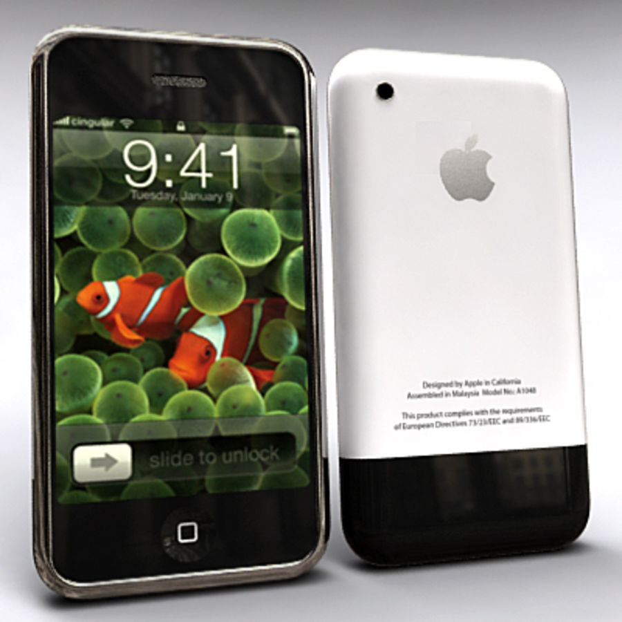 Apple iPhone royalty-free 3d model - Preview no. 2
