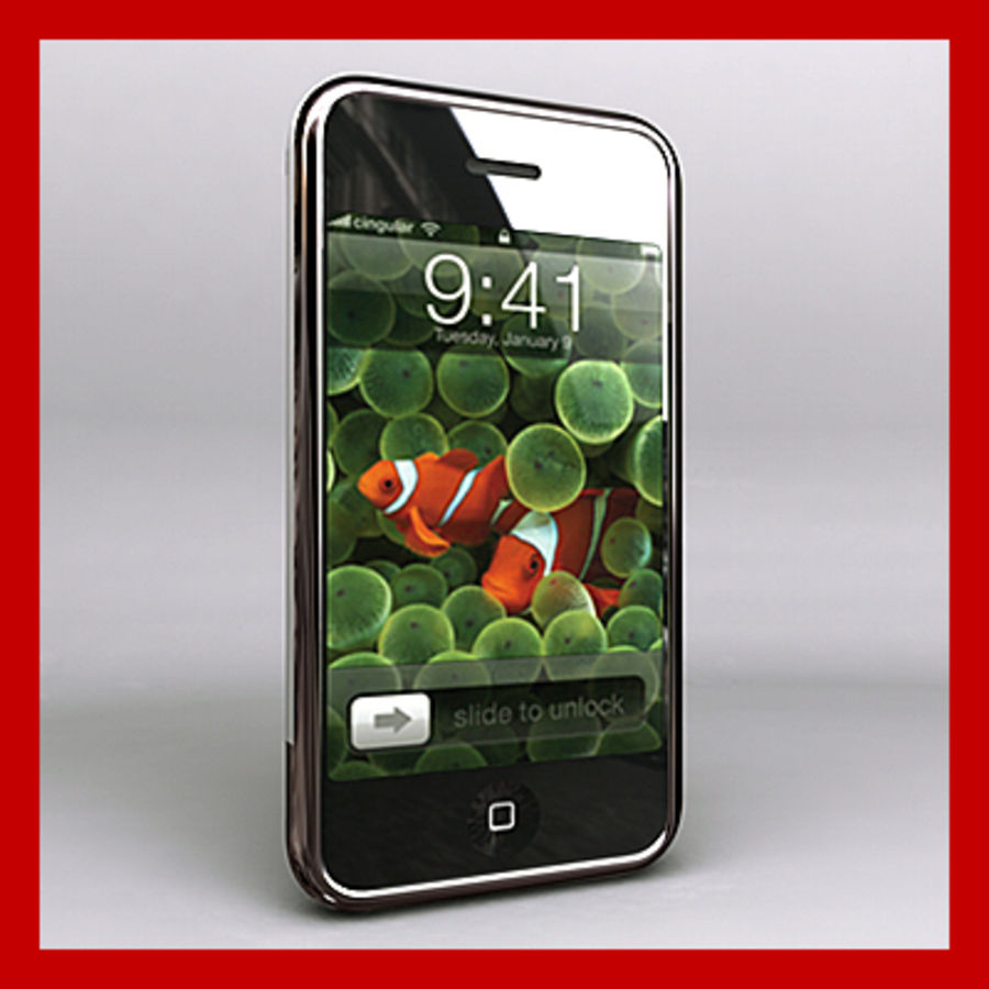 Apple iPhone royalty-free 3d model - Preview no. 1