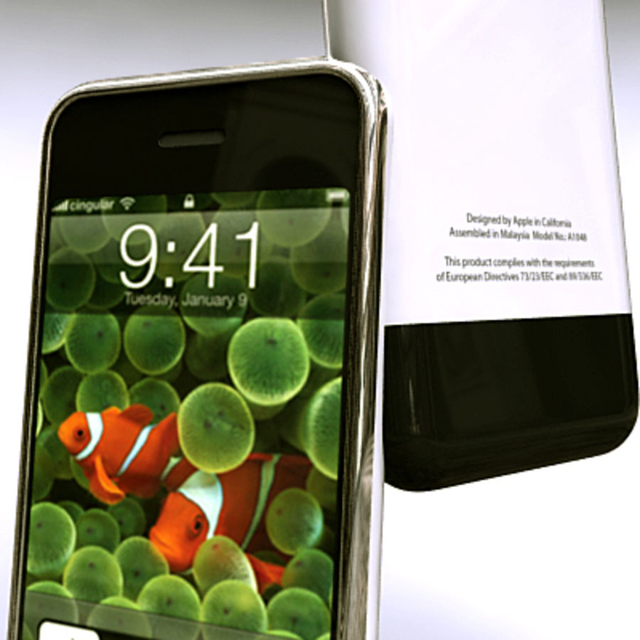 Apple iPhone royalty-free 3d model - Preview no. 4