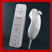 Wiimote and Nunchuk Controllers  3d model