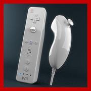 WiimoteおよびNunchukコントローラー 3d model