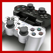 PS2控制器-Dualshock 2(黑色和银色版) 3d model