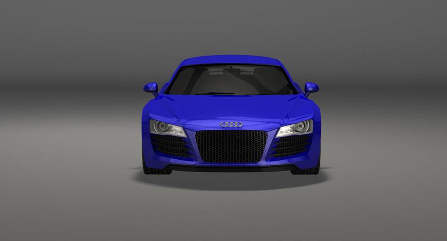 Audi r8 royalty-free 3d model - Preview no. 10
