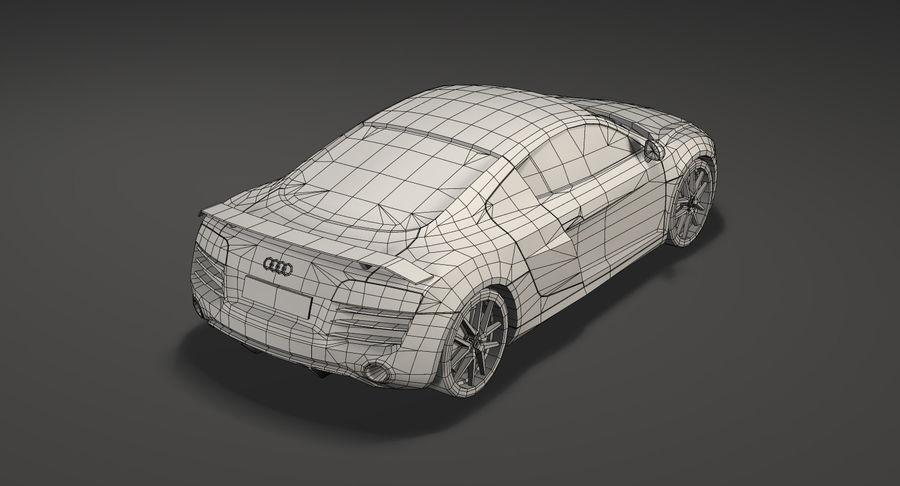 Audi r8 royalty-free 3d model - Preview no. 15