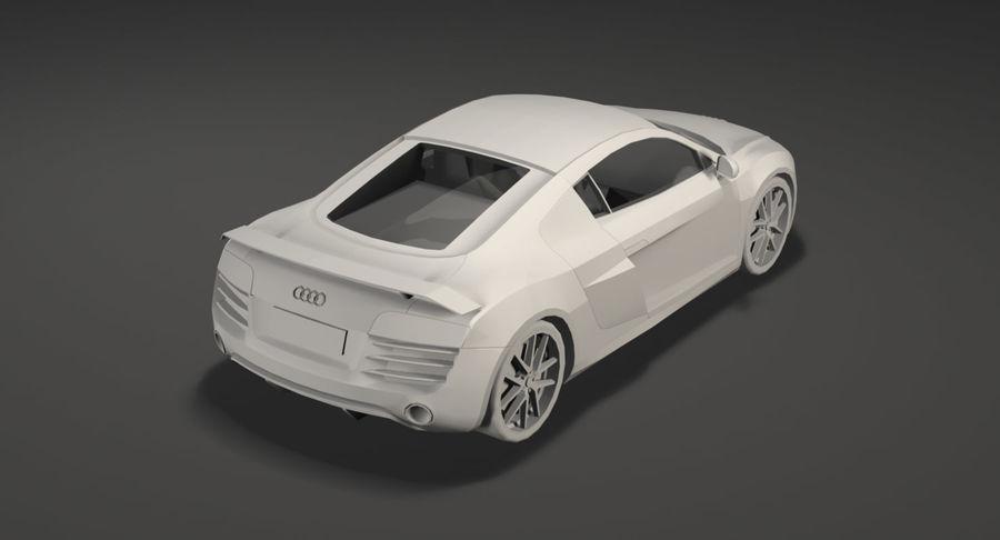 Audi r8 royalty-free 3d model - Preview no. 21
