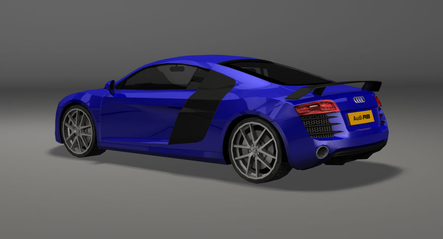 Audi R8 royalty-free 3d model - Preview no. 8