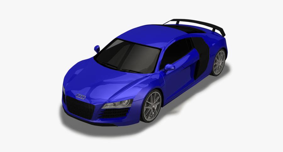 Audi R8 royalty-free 3d model - Preview no. 2