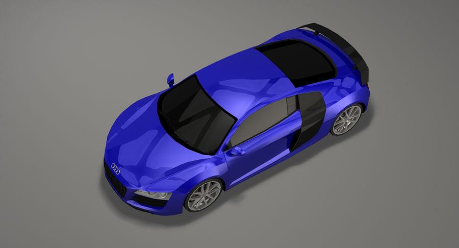 Audi R8 royalty-free 3d model - Preview no. 13