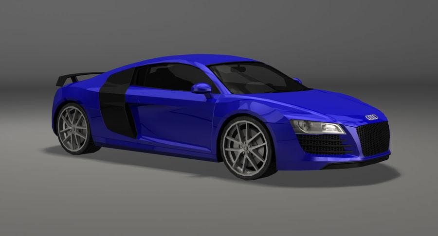 Audi r8 royalty-free 3d model - Preview no. 7