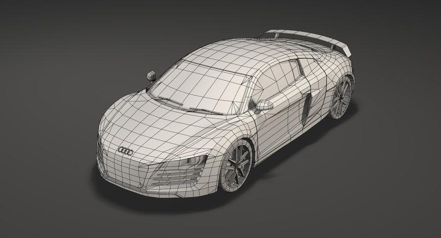 Audi R8 royalty-free 3d model - Preview no. 14