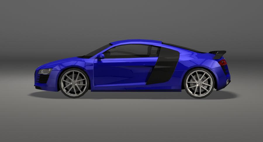 Audi R8 royalty-free 3d model - Preview no. 9