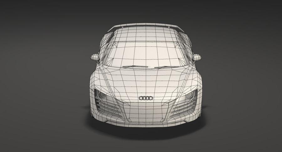 Audi r8 royalty-free 3d model - Preview no. 16