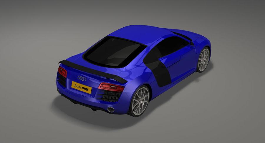 Audi r8 royalty-free 3d model - Preview no. 4