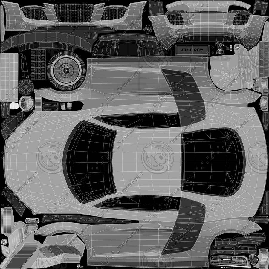 Audi r8 royalty-free 3d model - Preview no. 19