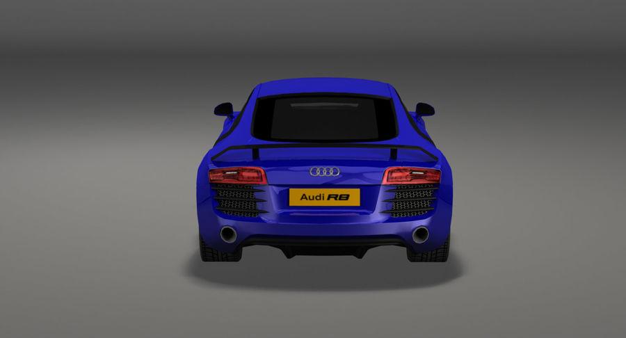 Audi r8 royalty-free 3d model - Preview no. 12