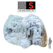 Icefall  phenomenon of nature 3d model