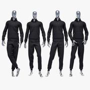 Male sport suit 3 3d model