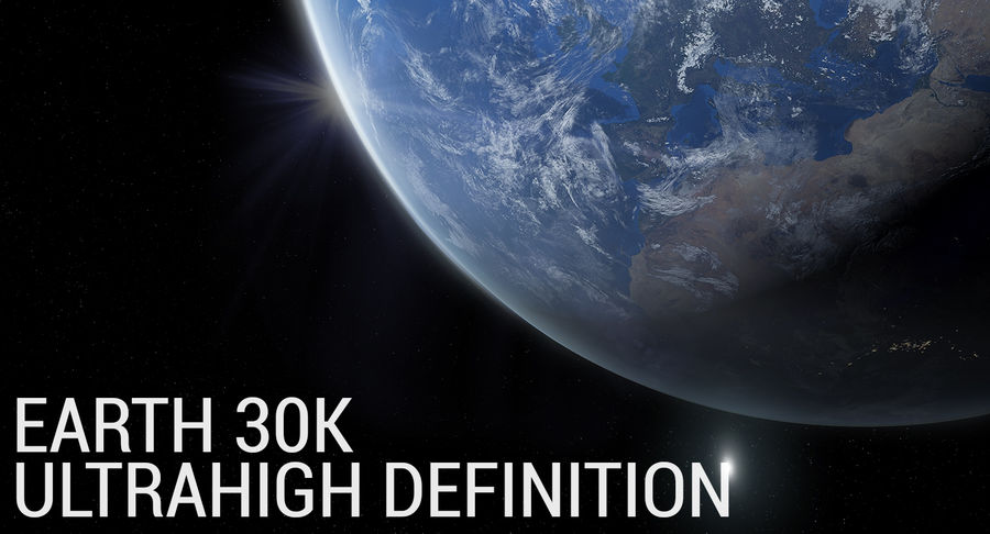 Earth - 30k Photorealistic royalty-free 3d model - Preview no. 1