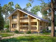 Log Cabin House 3d model