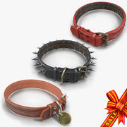 Animal Collars Collection 3d model