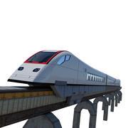 Train de science-fiction 3d model