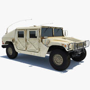 HMMWV Hummer Miliatry Vehicle 3d model