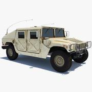 Vehículo Militar Hummer HMMWV modelo 3d