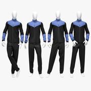 Male sport suit 2 3d model