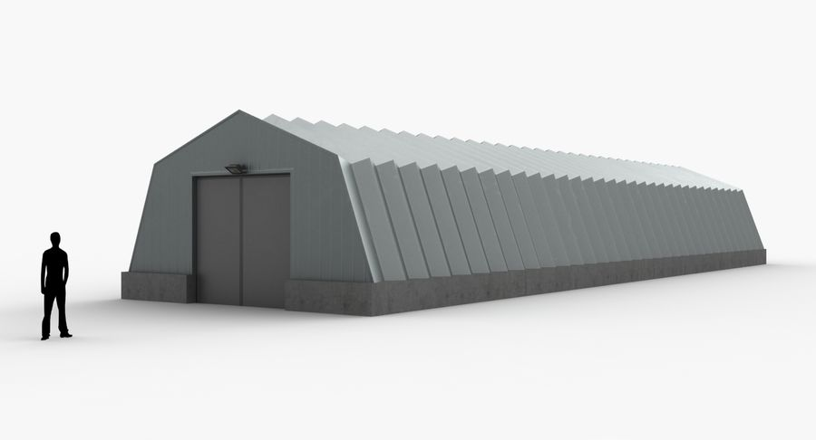 Hangars Collection royalty-free 3d model - Preview no. 4