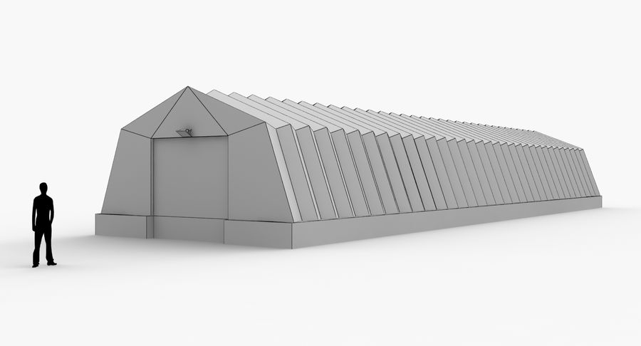Hangars Collection royalty-free 3d model - Preview no. 16