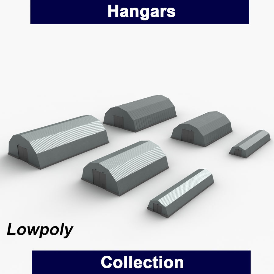 Hangars Collection royalty-free 3d model - Preview no. 1