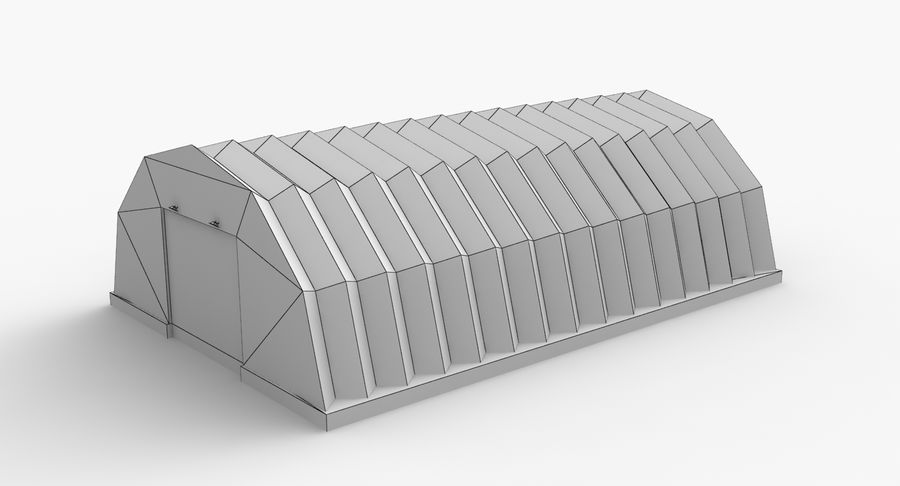Hangars Collection royalty-free 3d model - Preview no. 17