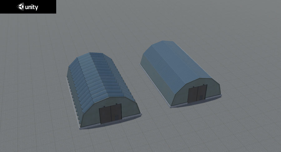 Hangars Collection royalty-free 3d model - Preview no. 28