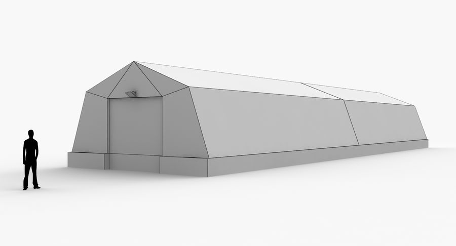 Hangars Collection royalty-free 3d model - Preview no. 15